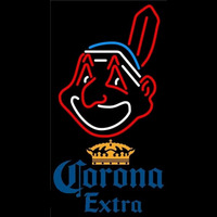 Corona Extra Cleveland Indians MLB Beer Sign Neon Sign