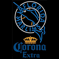 Corona Extra Florida Marlins MLB Beer Sign Neon Sign