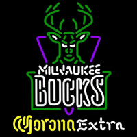 Corona Extra Logo Milwaukee Bucks NBA Beer Sign Neon Sign