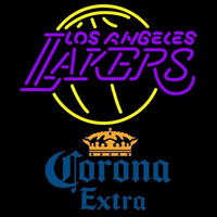 Corona Extra Los Angeles Lakers NBA Beer Sign Neon Sign