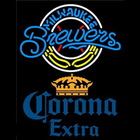 Corona Extra Milwaukee Brewers MLB Beer Sign Neon Sign