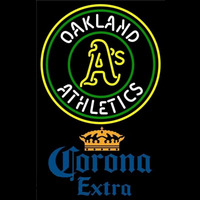 Corona Extra Oakland Athletics MLB Beer Sign Neon Sign