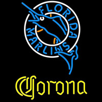 Corona Florida Marlins MLB Beer Sign Neon Sign
