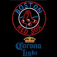 Corona Light Boston Red Sox MLB Beer Sign Neon Sign