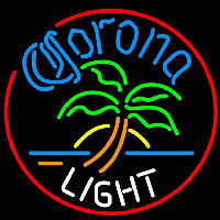 Corona Light Circle Palm Tree Beer Sign Neon Sign