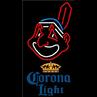 Corona Light Cleveland Indians MLB Beer Sign Neon Sign
