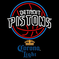 Corona Light Detroit Pistons NBA Beer Sign Neon Sign