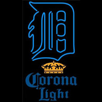 Corona Light Detroit Tigers MLB Beer Sign Neon Sign