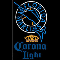 Corona Light Florida Marlins MLB Beer Sign Neon Sign