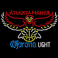 Corona Light Logo Atlanta Hawks NBA Beer Sign Neon Sign
