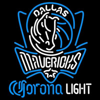 Corona Light Logo Dallas Mavericks NBA Beer Sign Neon Sign