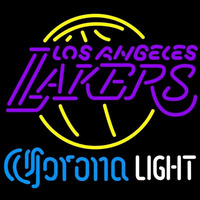 Corona Light Logo Los Angeles Lakers NBA Beer Sign Neon Sign