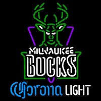 Corona Light Logo Milwaukee Bucks NBA Beer Sign Neon Sign