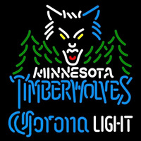 Corona Light Logo Minnesota Timberwolves NBA Beer Sign Neon Sign