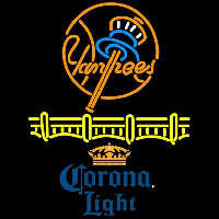 Corona Light Logo New York Yankees Beer Sign Neon Sign