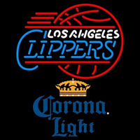 Corona Light Los Angeles Clippers NBA Beer Sign Neon Sign
