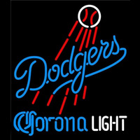 Corona Light Los Angeles Dodgers MLB Beer Sign Neon Sign