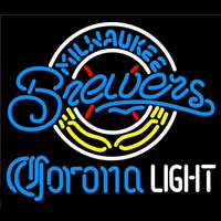 Corona Light Milwaukee Brewers MLB Beer Sign Neon Sign