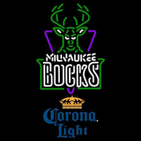 Corona Light Milwaukee Bucks NBA Beer Sign Neon Sign