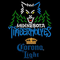 Corona Light Minnesota Timberwolves NBA Beer Sign Neon Sign