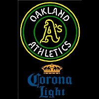 Corona Light Oakland Athletics MLB Beer Sign Neon Sign