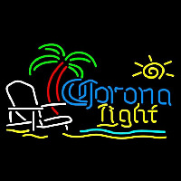 Corona Light Sun Beach Chair Fishing Beer Sign Neon Sign