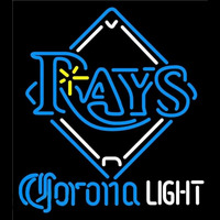 Corona Light Tampa Bay Rays MLB Beer Sign Neon Sign