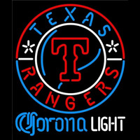 Corona Light Texas Rangers MLB Beer Sign Neon Sign