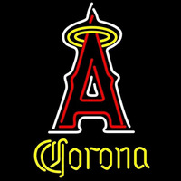 Corona Los Angeles Angels of Anaheim MLB Beer Sign Neon Sign