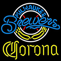 Corona Milwaukee Brewers MLB Beer Sign Neon Sign