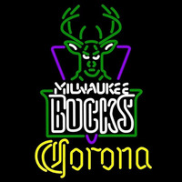 Corona Milwaukee Bucks NBA Beer Sign Neon Sign