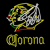 Corona North Dakota Fighting Sioux Hockey Beer Sign Neon Sign
