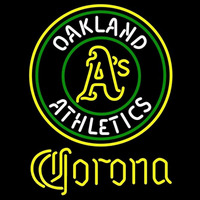 Corona Oakland Athletics MLB Beer Sign Neon Sign