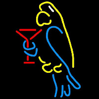 Corona Parrot Martini Glass Beer Sign Neon Sign