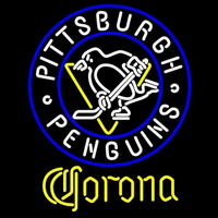 Corona Pittsburgh Penguins Beer Sign Neon Sign