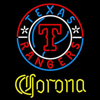 Corona Texas Rangers MLB Beer Sign Neon Sign