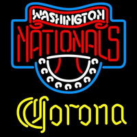 Corona Washington Nationals MLB Beer Sign Neon Sign
