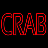 Crab Block 2 Neon Sign