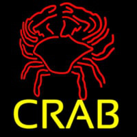 Crab Block With Logo 2 Neon Sign