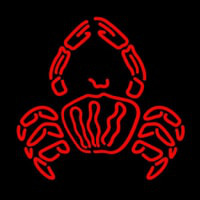 Crab Logo Red Neon Sign
