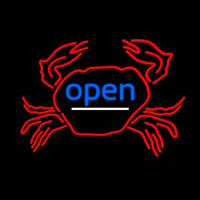 Crab Open Neon Sign