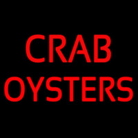 Crab Oysters Neon Sign