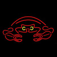 Crab Red Logo 2 Neon Sign