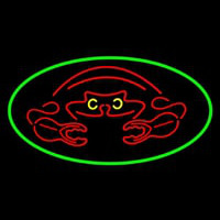 Crab Red Logo Neon Sign