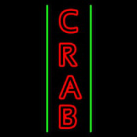 Crab Vertical 1 Neon Sign