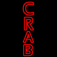 Crab Vertical Neon Sign