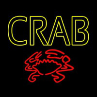 Crab With Logo Neon Sign