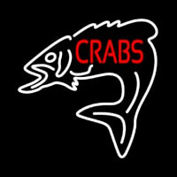 Crabs With Fish Logo Neon Sign
