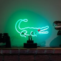 Crocodile Desktop Neon Sign