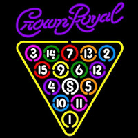 Crown Royal 15 Ball Billiards Pool Beer Sign Neon Sign